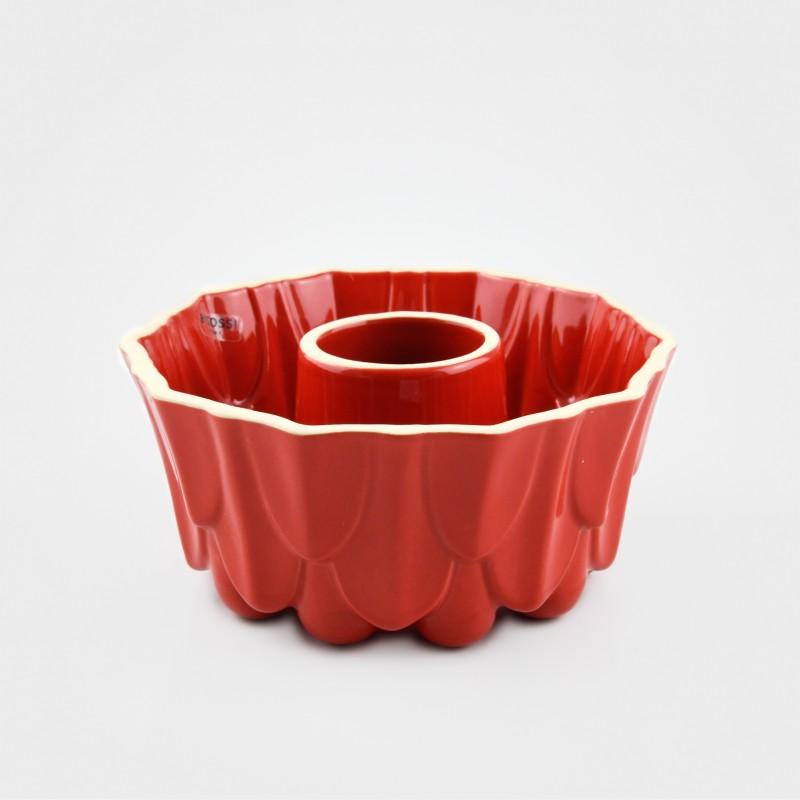 """Bitossi Back- und Puddingform, """"Dolcemente"""", rot, Steinzeug"""