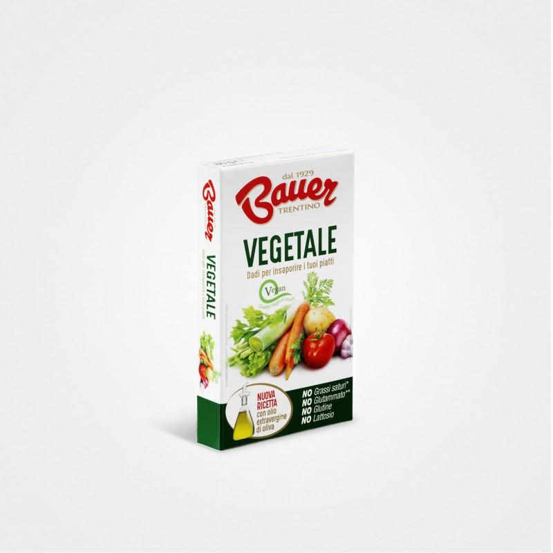 Bauer Dado vegetale (6 x 10g Packung), Brühwürfel mit Jodsalz für Gemüsebrühe