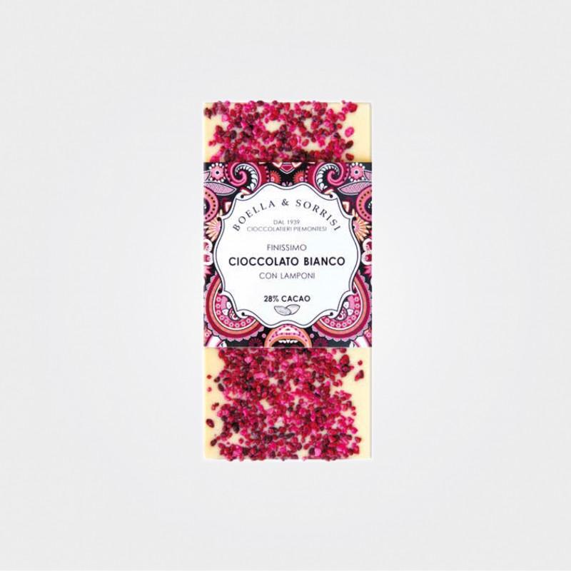 Weiße Schokolade mit Himbeeren von Boella & Sorrisi