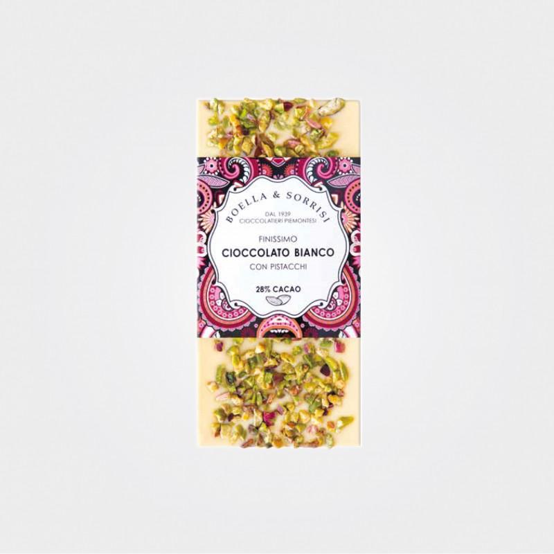 Boella & Sorrisi Weiße Schokolade mit Pistazien