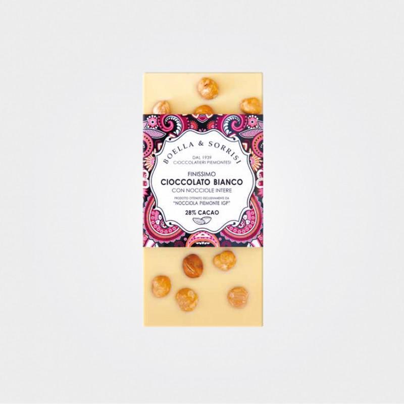 Boella e Sorrisi Weiße Schokolade mit Haselnüssen aus dem Piemont
