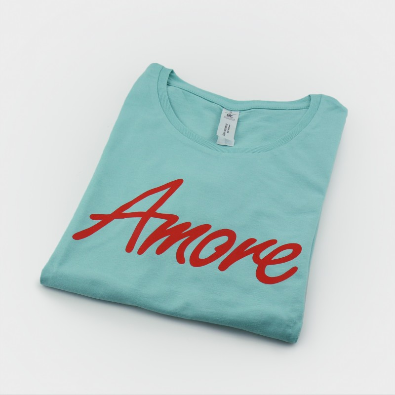 Amore T-Shirt, Frauen, mint