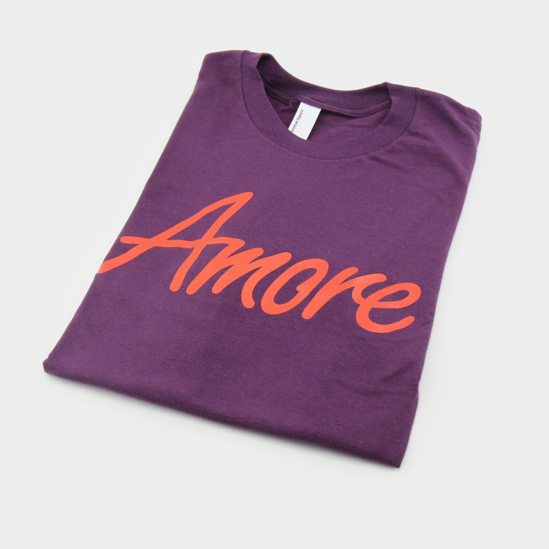 Amore T-Shirt, aubergine, American Apparel