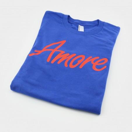 Amore T-Shirt, blau, American Apparel