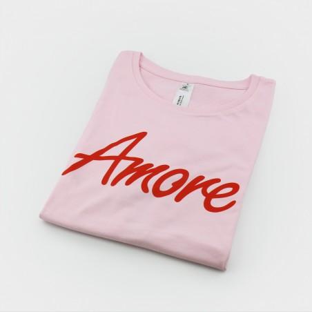 Amore T-Shirt, Frauen, rosa