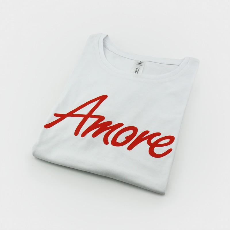 Amore T-Shirt, Frauen, weiß