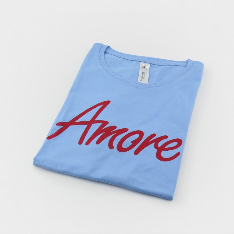 Amore T-Shirt, Frauen, hellblau