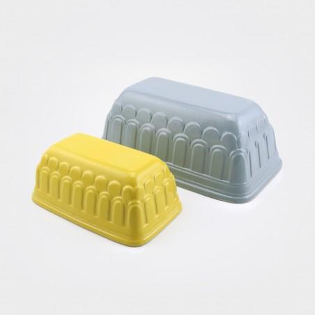 """Bitossi Backform """"Dolcemente"""", grau & gelb"""