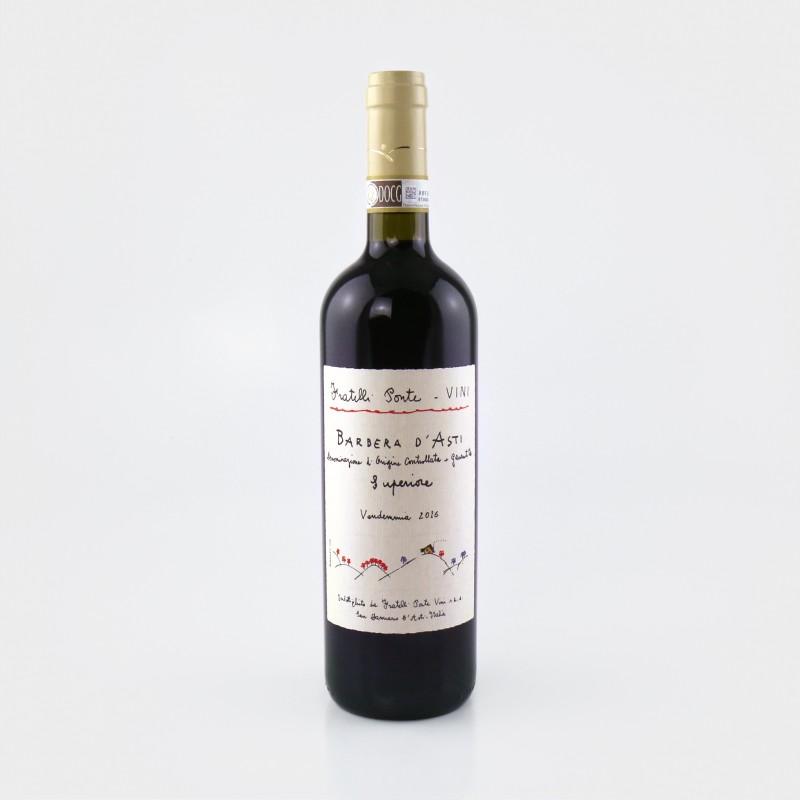 Barbera d' Asti Superiore DOCG 2016 von Fratelli Ponte, Rotwein aus dem Piemont