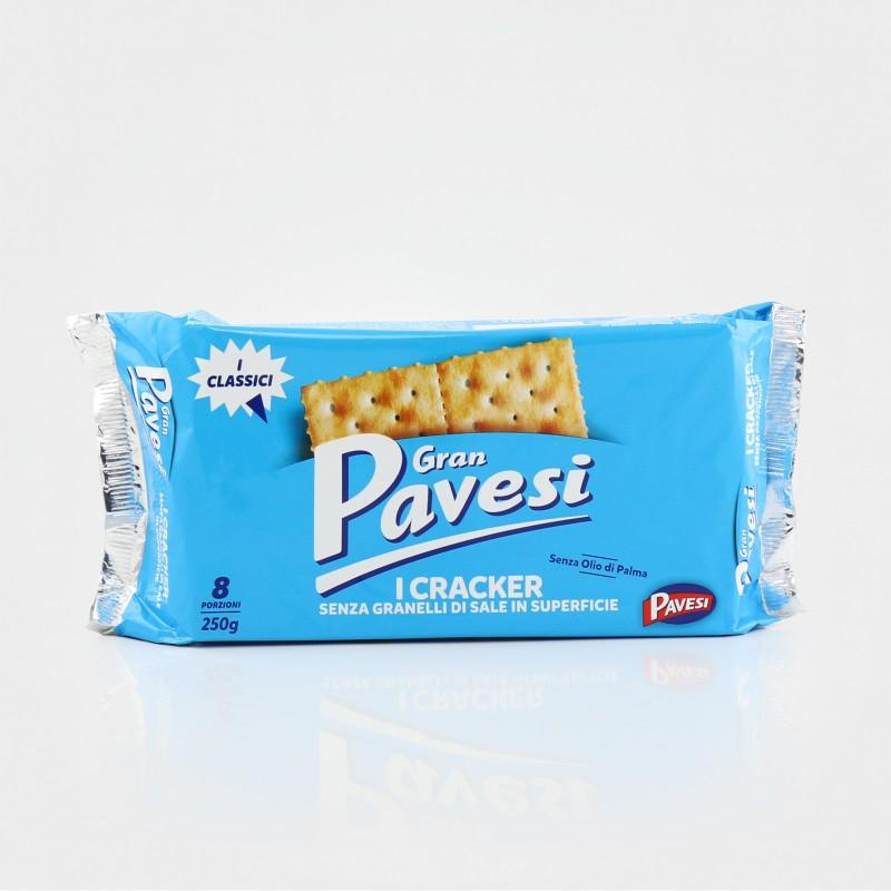 Pavesi Cracker ohne Salzkörner auf der Oberfläche