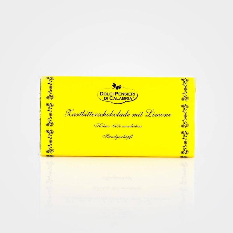 Zartbitterschokolade mit Limone