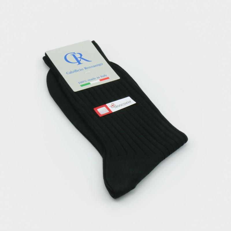 Socken aus Filoscozia Baumwolle, anthrazit