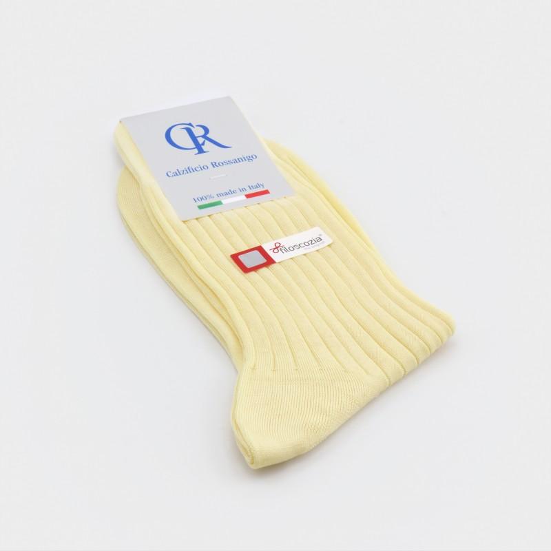 Socken aus Filoscozia Baumwolle, hellgelb