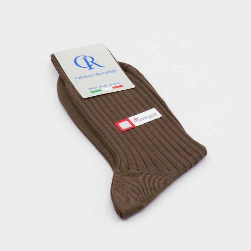 Socken aus Filoscozia Baumwolle, braun