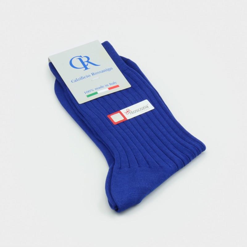 Socken aus Filoscozia Baumwolle, blau