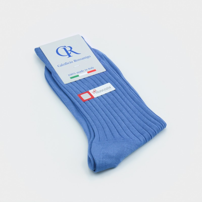 Socken aus Baumwolle (Filoscozia), azur