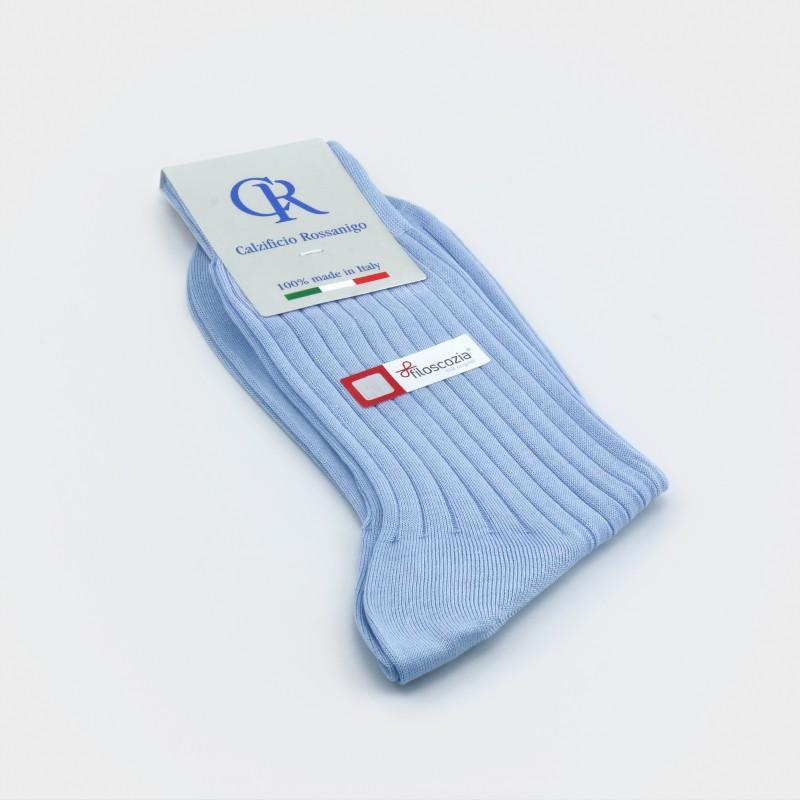 Socken aus Filoscozia Baumwolle, hellblau