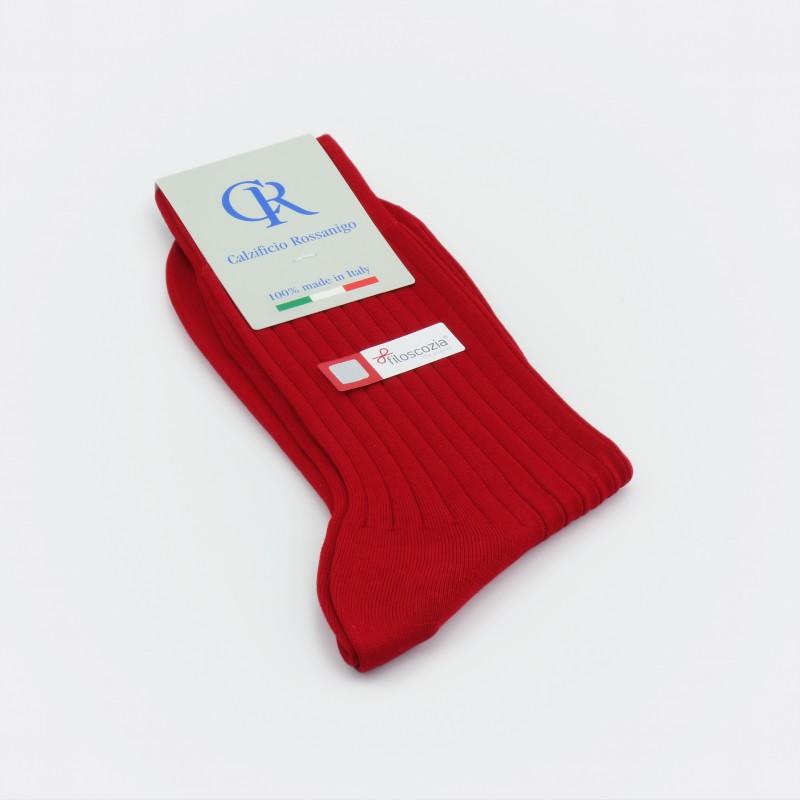 Socken aus Filoscozia Baumwolle, rot