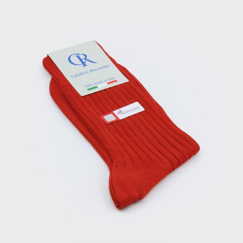 Socken aus Filoscozia Baumwolle, rost