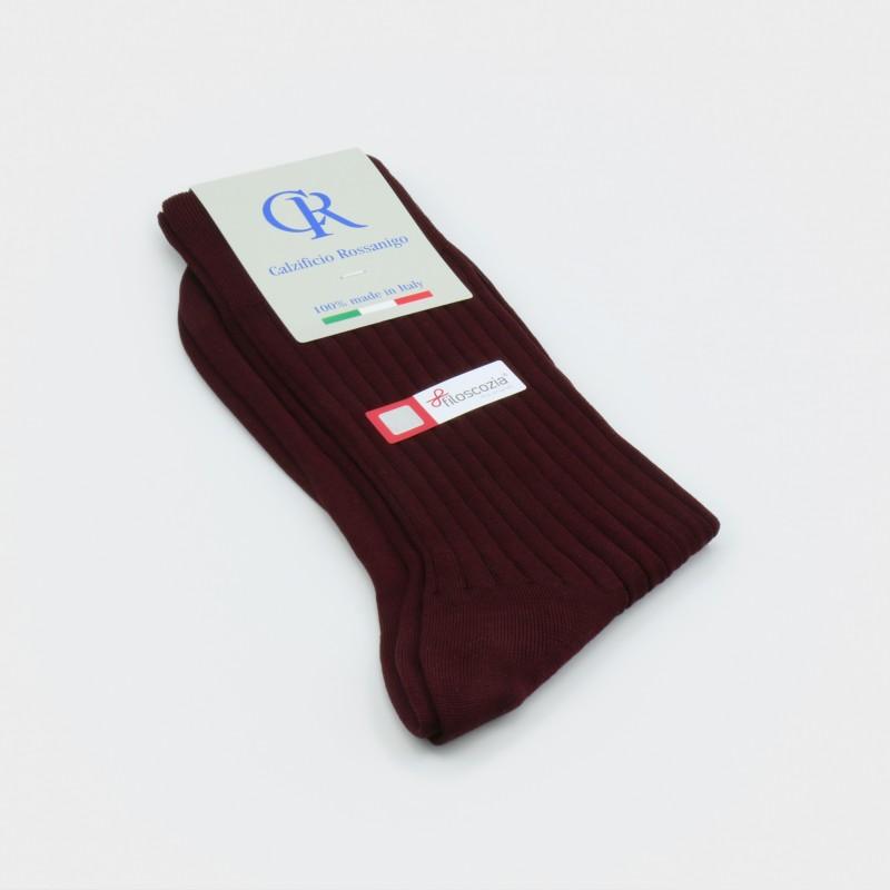 Socken aus Filoscozia Baumwolle, bordeaux