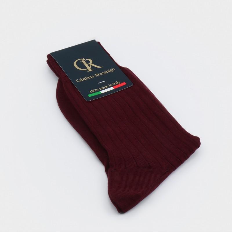 Socken aus Baumwolle, bordeaux