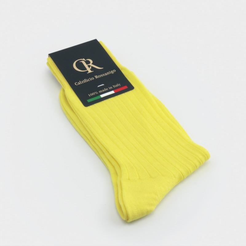 Socken aus Baumwolle, zitrone