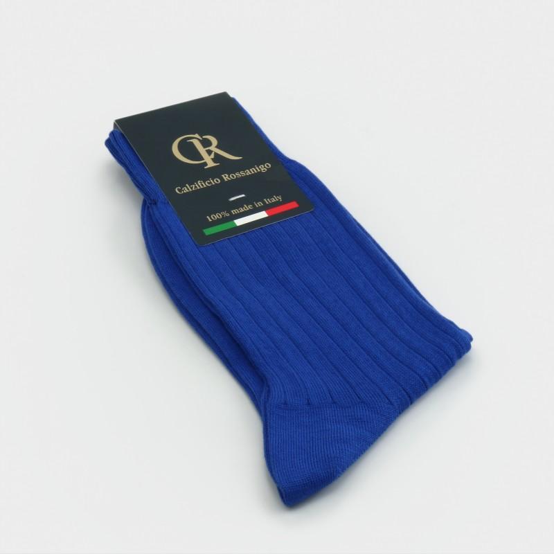 Socken aus Baumwolle, blau