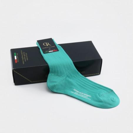 Socken aus Baumwolle, türkis