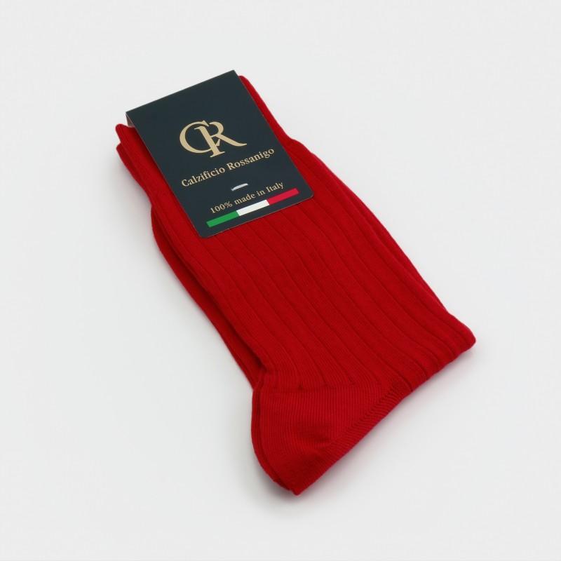 Socken aus Baumwolle, rot