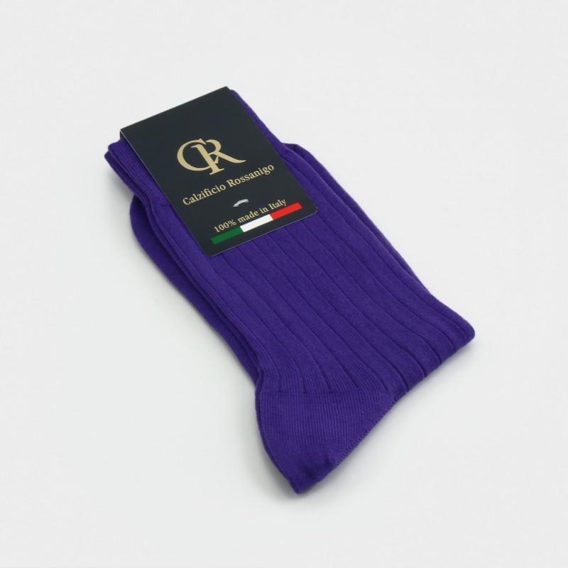 Socken aus Baumwolle, lila