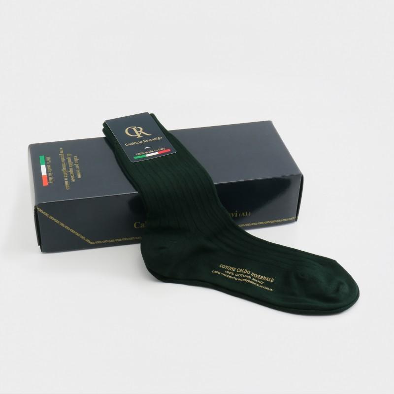 Socken aus Baumwolle, dunkelgrün