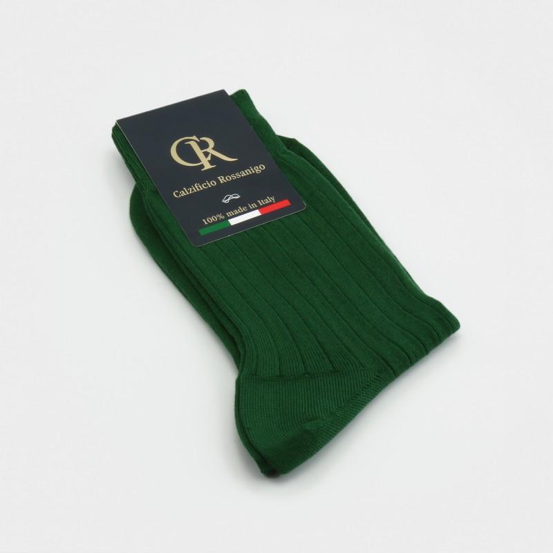 Socken aus Baumwolle, grün