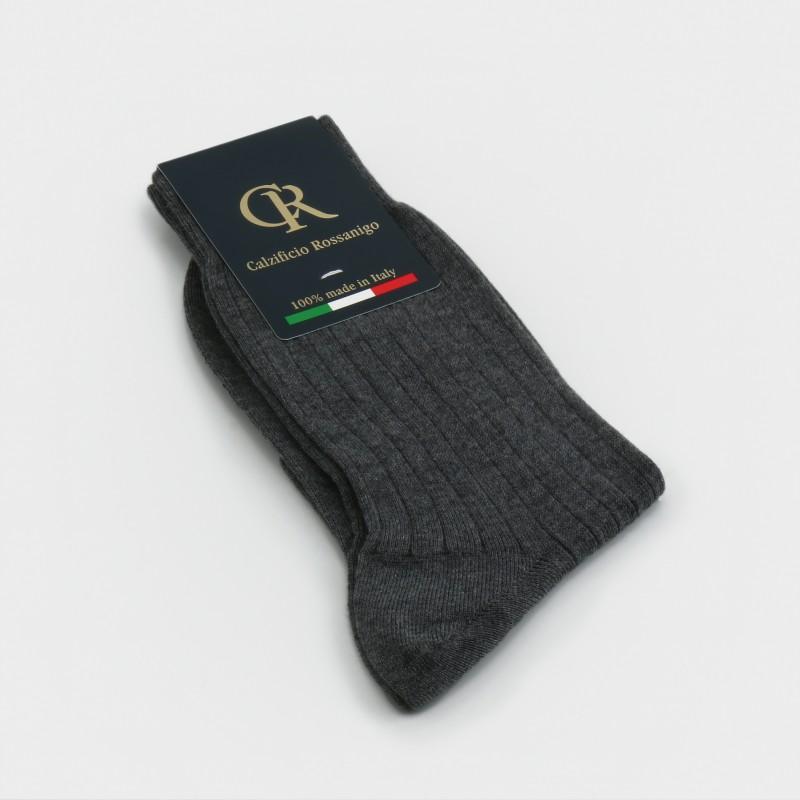 Socken aus Baumwolle, grau
