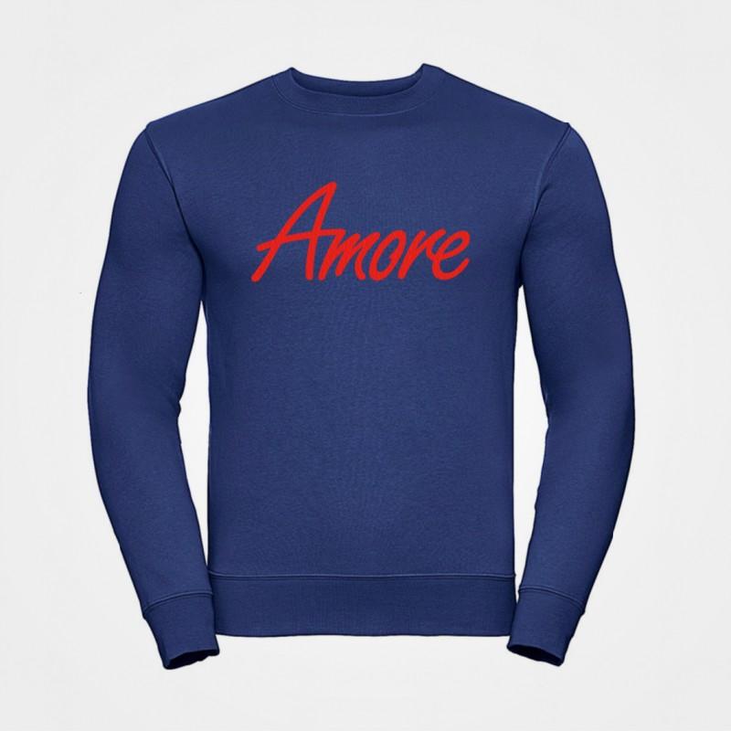 Amore-Sweatshirt, unisex, Russel, royalblau