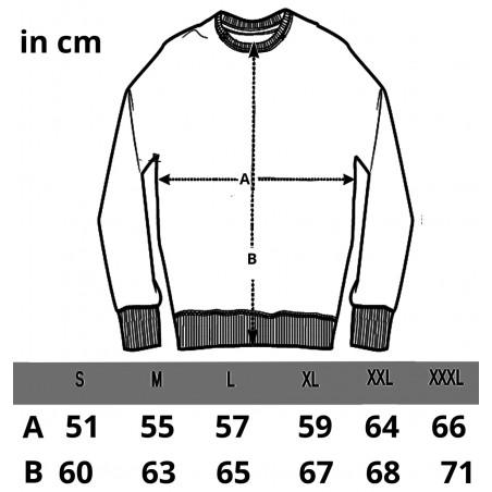 Größentabelle der Russel Sweatshirts