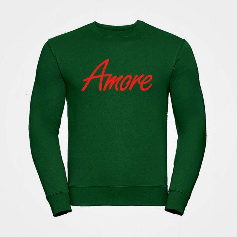 Amore-Sweatshirt, unisex, Russel, dunkelgrün