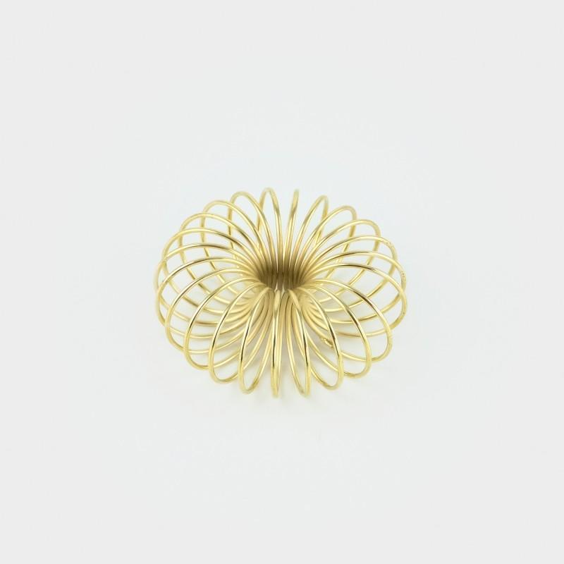 Spirale Kerzenständer in gold