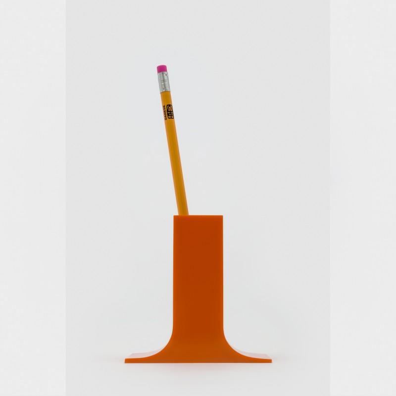 """""""Lampedusa"""" Bleistifthalter von Enzo Munari für Danese Milano, orange"""