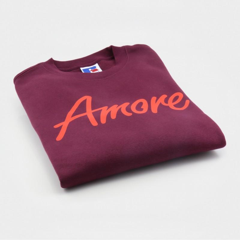 Amore-Sweatshirt, weinrot