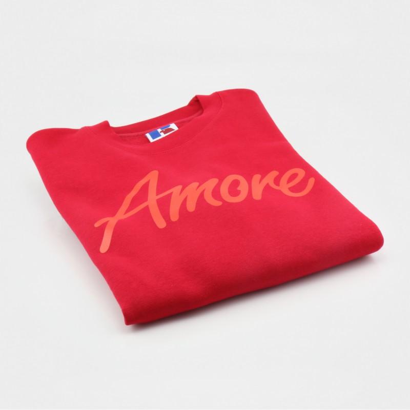 Amore-Sweatshirt, rot