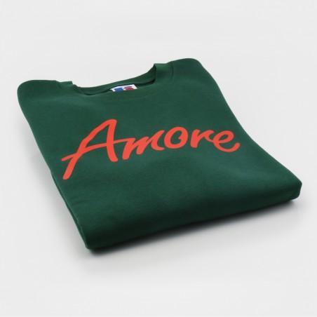 Amore-Sweatshirt, flaschengrün