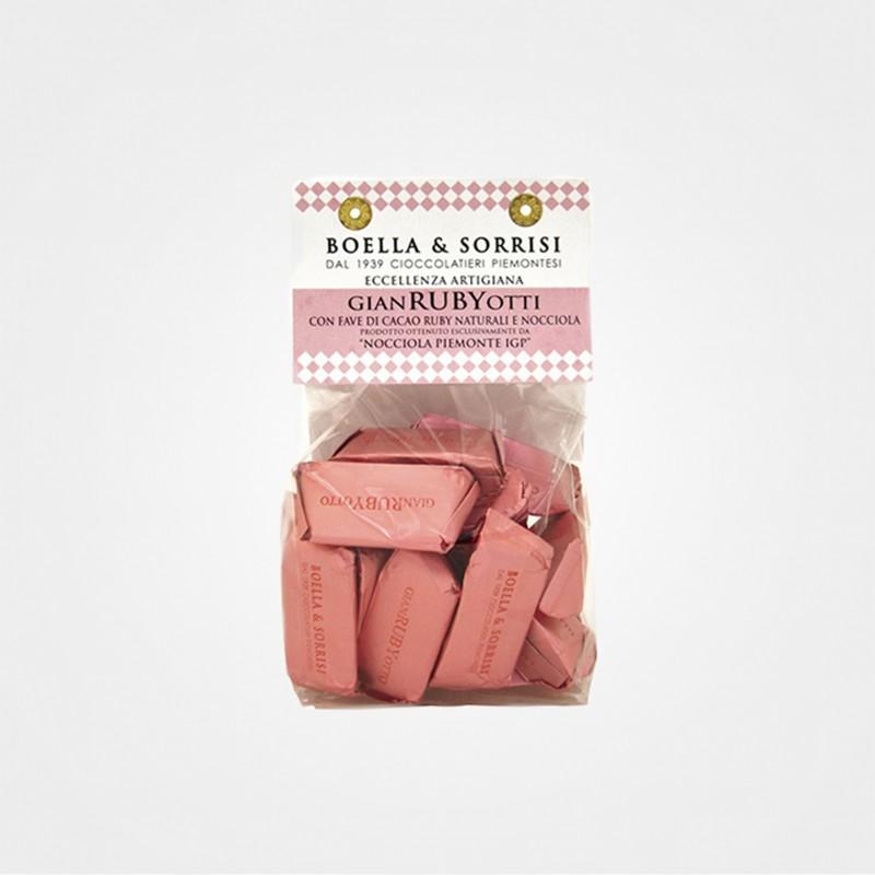 Gianrubyotti von Boella & Sorrisi mit Ruby-Kakaobohnen von Callebaut
