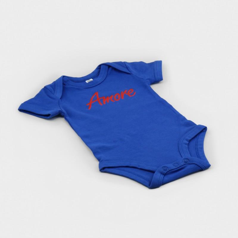 Amore Baby-Body, blau