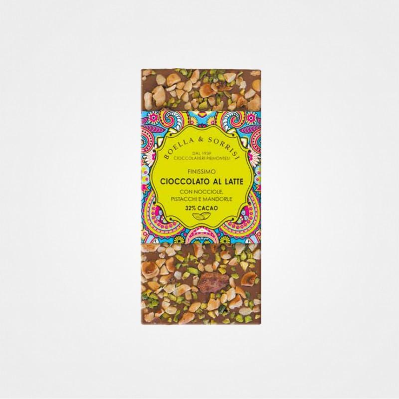 Boella e Sorrisi Vollmilchschokolade mit Haselnüssen, Pistazien und Mandeln