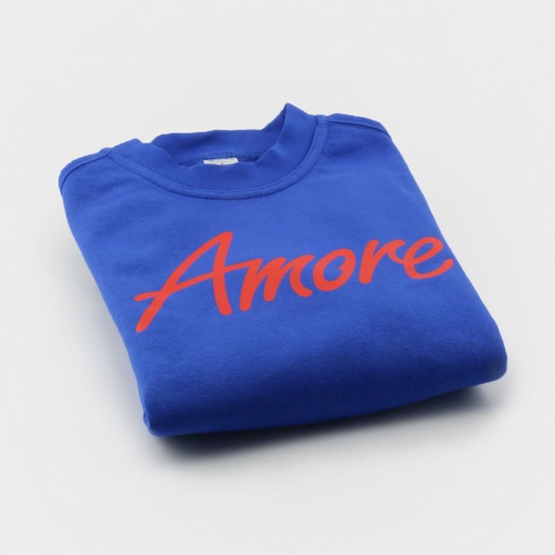 Amore-Sweatshirt für Kinder, royalblau