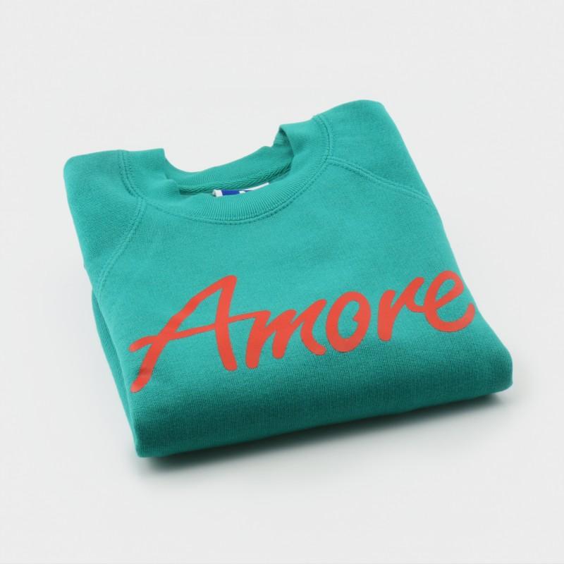 Amore-Sweatshirt für Kinder, türkis