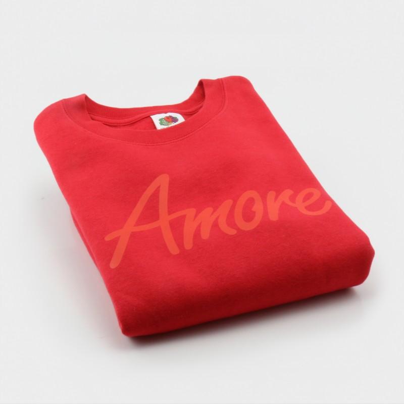 Amore-Sweatshirt für Kinder, rot