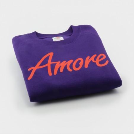 Amore-Sweatshirt für Kinder, lila