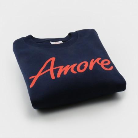 Amore-Sweatshirt für Kinder, dunkelblau