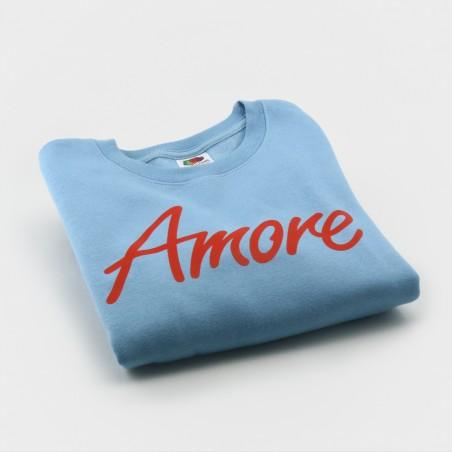 Amore-Sweatshirt für Kinder, hellblau